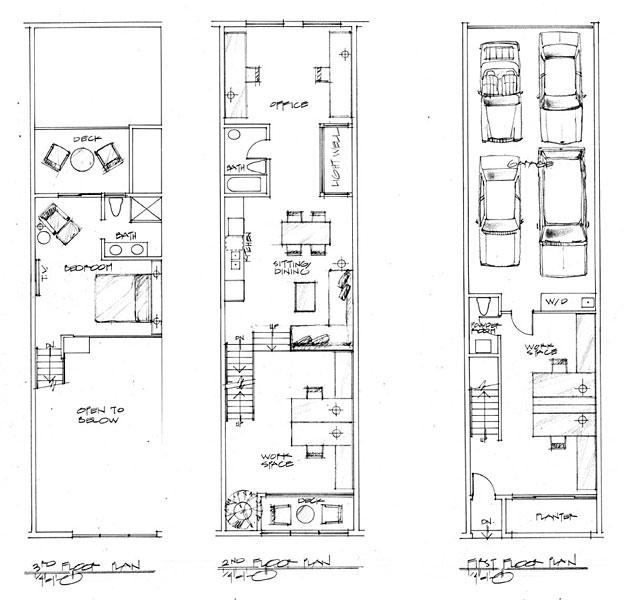 Warehouse loft apartment floor plans for Warehouse house plans